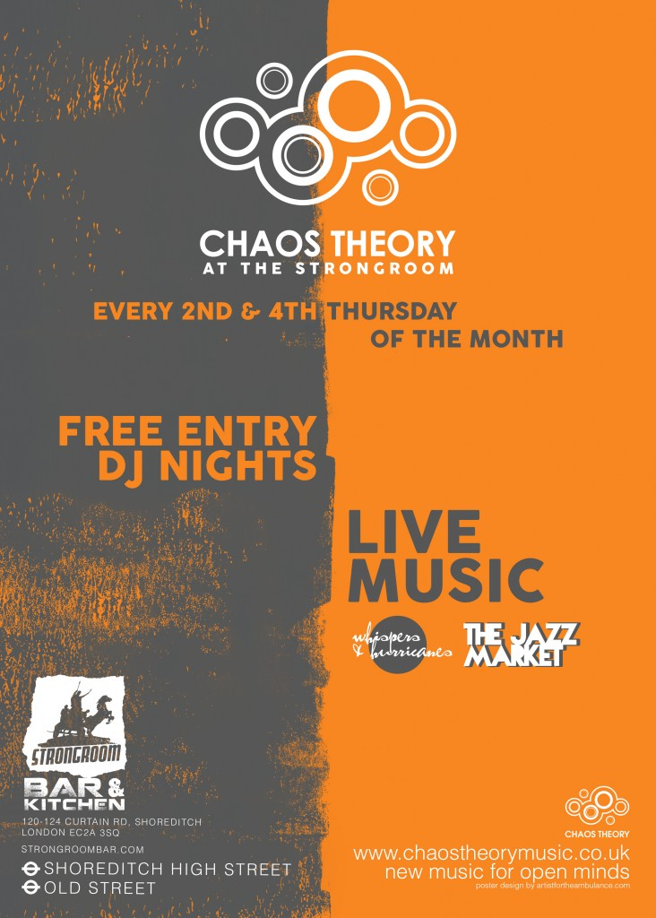 Chaos Theory DJs Strongroom poster