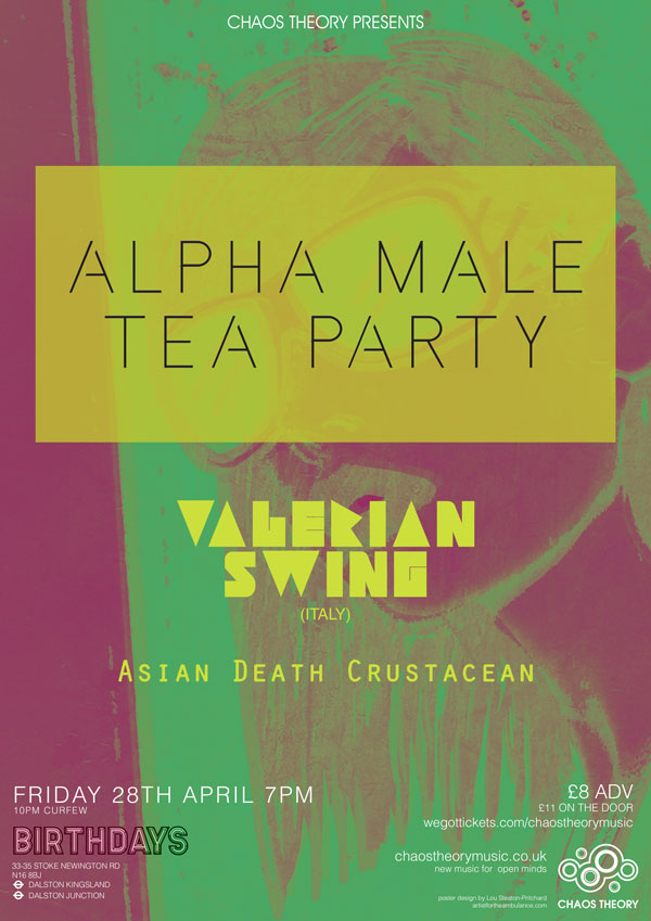 Alpha Male Tea Party poster